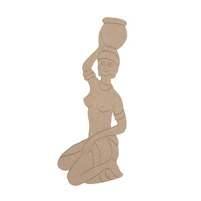 Декоративна фигура RicoDesign, АФРИКАНКА, MDF, 27/11/0.5 cm