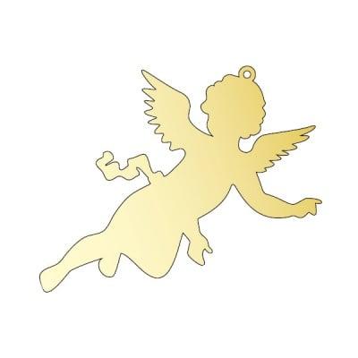 Декоративна фигура RicoDesign, АНГЕЛЧЕ, GOLD, 8.2/12.5 cm