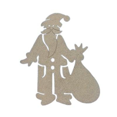 Декоративна фигура RicoDesign, ДЯДО КОЛЕДА, MDF, 15.5/13.5/0.5 cm