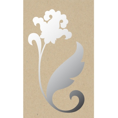 Декоративна фигура RicoDesign, ИРИС, SILVER, 25.5/14 cm