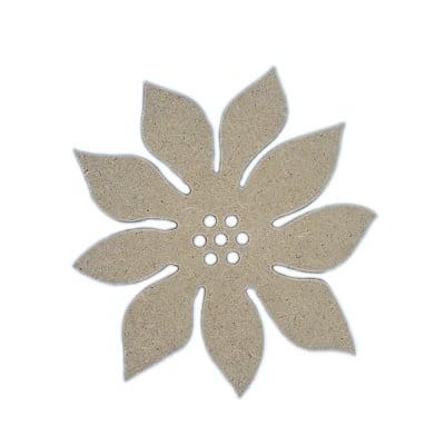Декоративна фигура RicoDesign, КОЛЕДНА ЗВЕЗДА, MDF, 9/8.5/0.5 cm