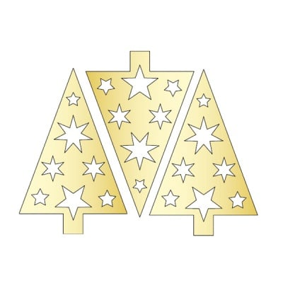 Декоративна фигура RicoDesign, КОЛЕДНО ДЪРВО, GOLD, 11.5/7.5 cm