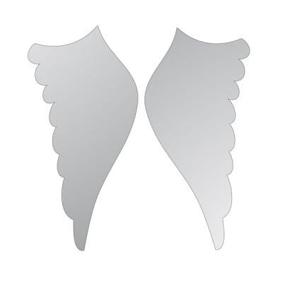 Декоративна фигура RicoDesign, КРИЛЦА 2ч., SILVER,