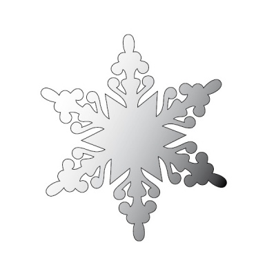 Декоративна фигура RicoDesign, КРИСТАЛ 2, SILVER, 8.1/9.3 cm