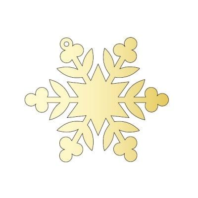 Декоративна фигура RicoDesign, КРИСТАЛ 3, GOLD, 7.8/9 cm