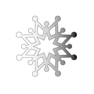Декоративна фигура RicoDesign, КРИСТАЛ 4, SILVER, 4 8/8 cm