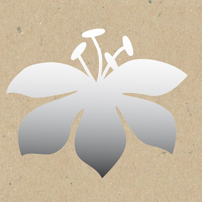 Декоративна фигура RicoDesign, ЛИЛИУМ, SILVER, 9.5/10 cm