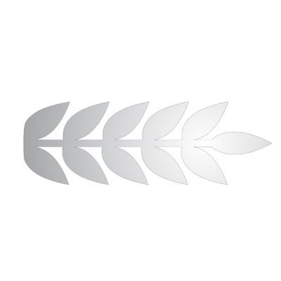 Декоративна фигура RicoDesign, ЛИСТ ПЕРЕСТ, SILVER, 7/21 cm