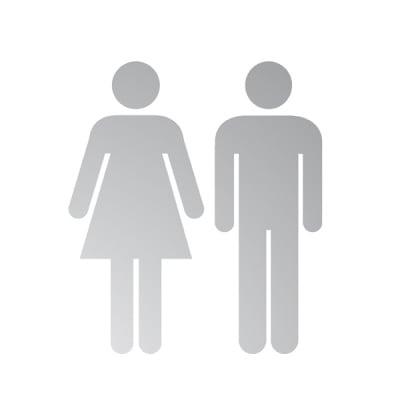Декоративна фигура RicoDesign, МЪЖ И ЖЕНА, SILVER,
