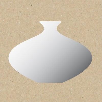 Декоративна фигура RicoDesign, МАЛКА ВАЗА, SILVER, 14.5/9.5 cm