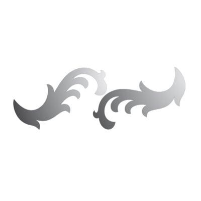 Декоративна фигура RicoDesign, ОРНАМЕНТ 2ч., SILVER,