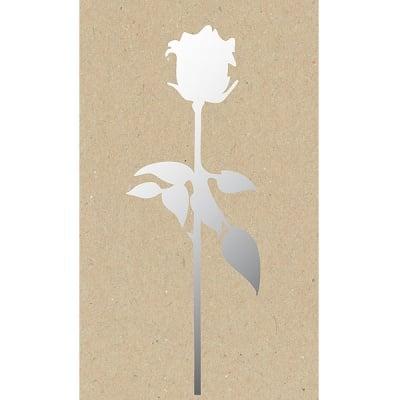 Декоративна фигура RicoDesign, РОЗА, SILVER, 6/20.5 cm