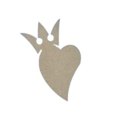 Декоративна фигура RicoDesign, СЪРЦЕ С КОРОНА, MDF, 11.5/8.5/0.5 cm