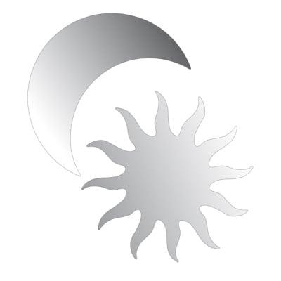 Декоративна фигура RicoDesign, СЛЪНЦЕ И ЛУНА, SILVER