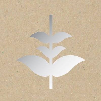 Декоративна фигура RicoDesign, СТЕБЛО С ЛИСТА, SILVER, 6.5/8.5 cm