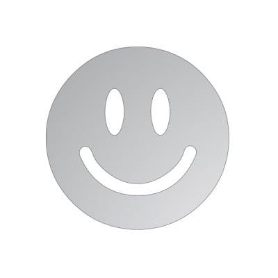 Декоративна фигура RicoDesign, УСМИВКА, SILVER, 6/6 cm