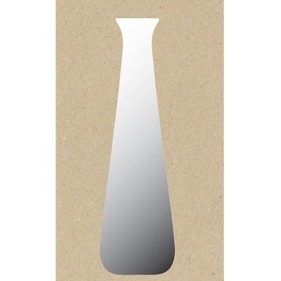 Декоративна фигура RicoDesign, ВИСОКА ВАЗА, SILVER, 7.5/19.5 cm