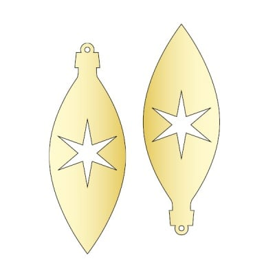 Декоративна фигура RicoDesign, ВИСУЛКА 1 2ч., GOLD, 11/4 cm
