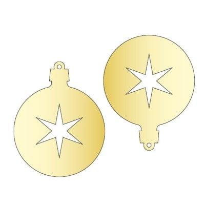 Декоративна фигура RicoDesign, ВИСУЛКА 3 2ч., GOLD, 7.6/6 cm