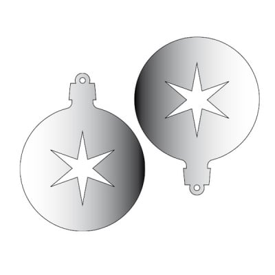 Декоративна фигура RicoDesign, ВИСУЛКА 3 2ч., SILVER, 7.6/6 cm