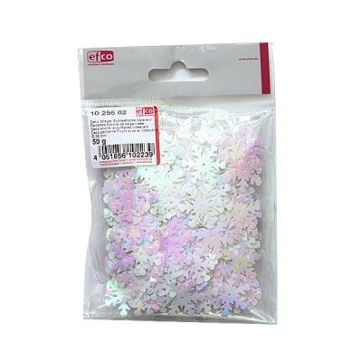 Декоративни снежинки, ф 28 mm, 50 г, с преливащи се цветове.