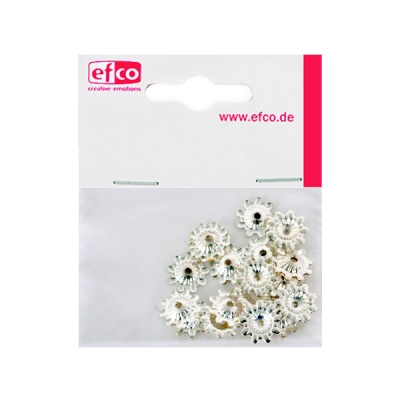 Декоративно капаче за перла, ф 12 mm, 30 броя, посребрено