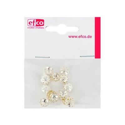 Декоративно капаче за перла, ф 8 mm, 30 броя, посребрено