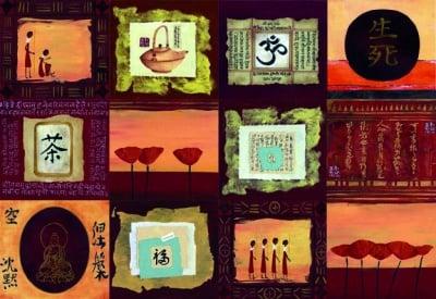 Декупажна хартия, 60 gr/m2, 33 x 48 cm, 1л, Азиатски импресии