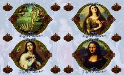 Декупажна хартия, 60 gr/m2, 33 x 48 cm, 1л, Женски портрети