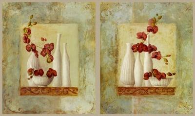 Декупажна хартия, 60 gr/m2, 33 x 48 cm, 1л, Като живи орхидеи