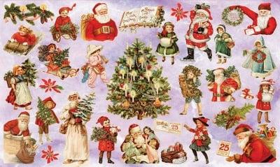 Декупажна хартия, 60 gr/m2, 33 x 48 cm, 1л, Коледа