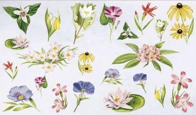 Декупажна хартия, 60 gr/m2, 33 x 48 cm, 1л, Летни цветя