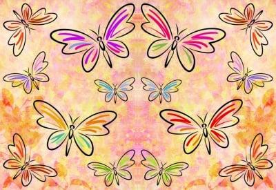 Декупажна хартия, 60 gr/m2, 33 x 48 cm, 1л, Вълшебни пеперуди