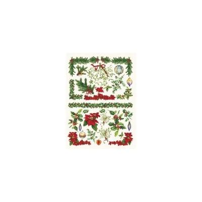 Декупажна хартия с мотиви, 40 g/m2, 50 x 70 cm, 1л, Коледни мотиви