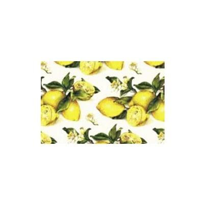 Декупажна хартия с мотиви, 40 g/m2, 50 x 70 cm, 1л, Лимони