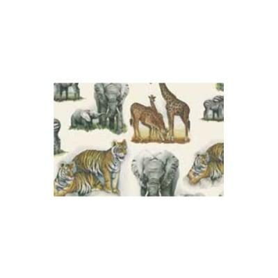 Декупажна хартия с мотиви, 85 g/m2, 50 x 70 cm, 1л, Африкански животни