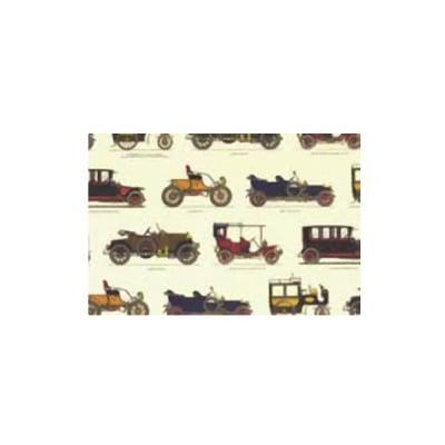 Декупажна хартия с мотиви, 85 g/m2, 50 x 70 cm, 1л, Стари автомобили