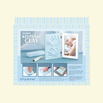 Детски комплект Keepsake Sculpey, бебе в синьо