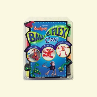 Детски комплект SuperFlex Bake & Bend Sculpey, 8 x 57 g