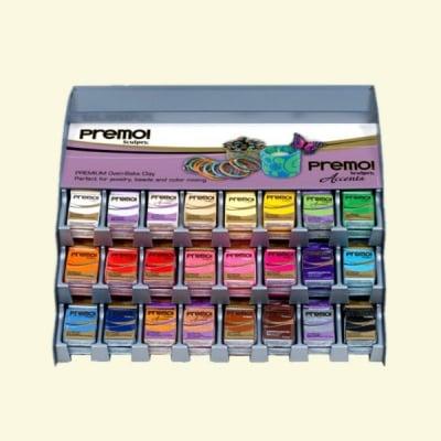 Дисплей DR50 premo! Sculpey Basic, 24 цвята/120 броя 57g