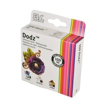 DODZ 3D двойнолепящи прозрачни лепенки, 12 x 2 mm, 100 бр.