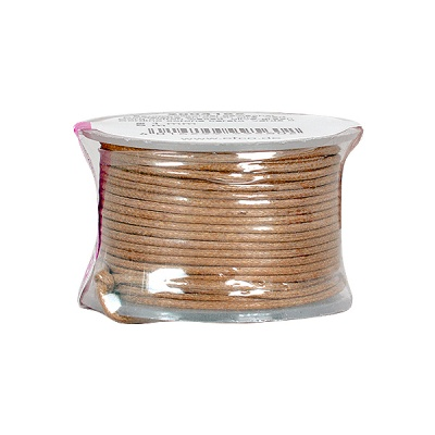 Восъчно памучен шнур, ф 0,5 mm, 9 m, кафяв