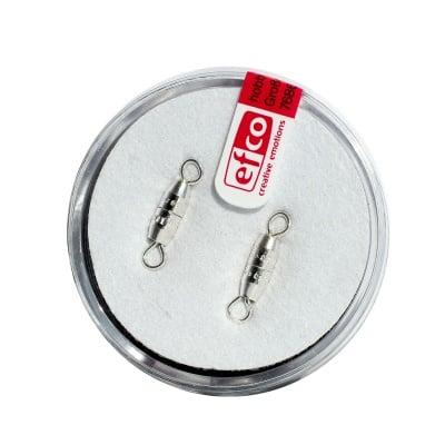 Закопчалка с винт 10 mm, 2 бр., посребренa
