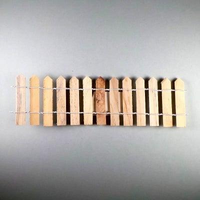 Дървена ограда 19,5 x 6 cm, натурална