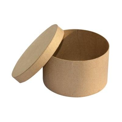 Кутия от папие маше, кръгла, 16 x 9,5 cm