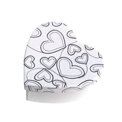 Кутия за декорация от картон, Сърце, 11 x 11 x 5 cm