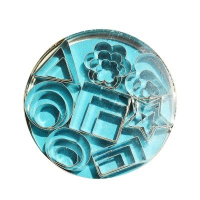 Метални форми за изрязване, ф 12 cm, 1.5-4 cm, 25 части