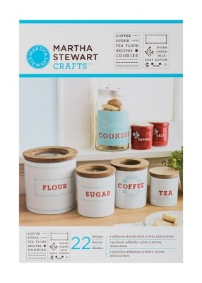 Шаблон самозалепящ Martha Stewart, Kitchen Labels, 14 x 19 cm, 2 броя