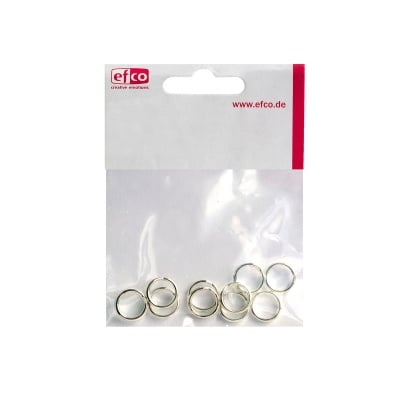 Сплит пръстен, ф 9 mm, 10 бр., посребрен