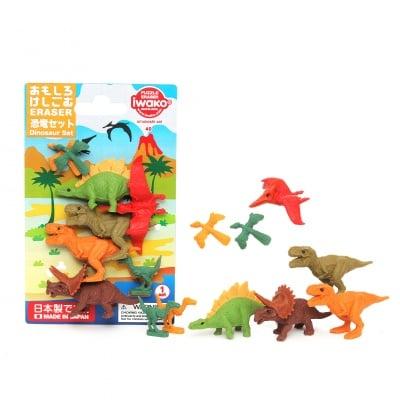 Комплект гумички за триене, Динозаври, 9 бр.